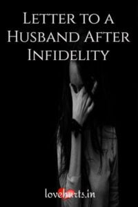 Read more about the article Letter To A Husband After Infidelity