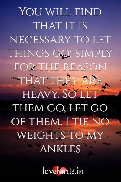 Let go And Moving On Quotes