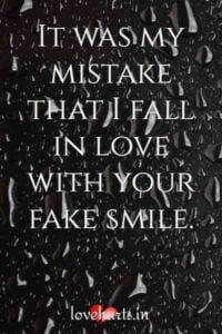 Read more about the article 83 Top Fake Love Quotes And Sayings