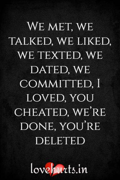 True Quotes About Cheating