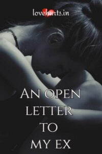 Read more about the article An Open Letter To My Ex